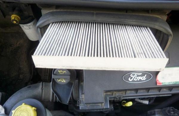 внешний вид салонного фильтра на форд транзит