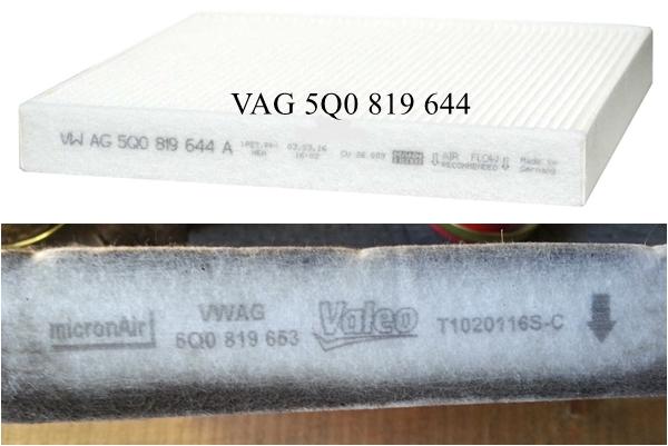 фильтр VAG 5Q0 819 644