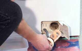 Как в стиральной машине Хотпоинт Аристон почистить фильтр своими руками