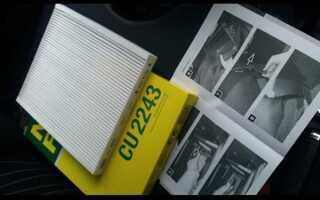 Инструкция по замене салонного фильтра на Опель Корса